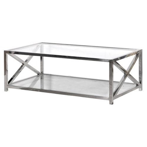 Glass/Steel Coffee Table