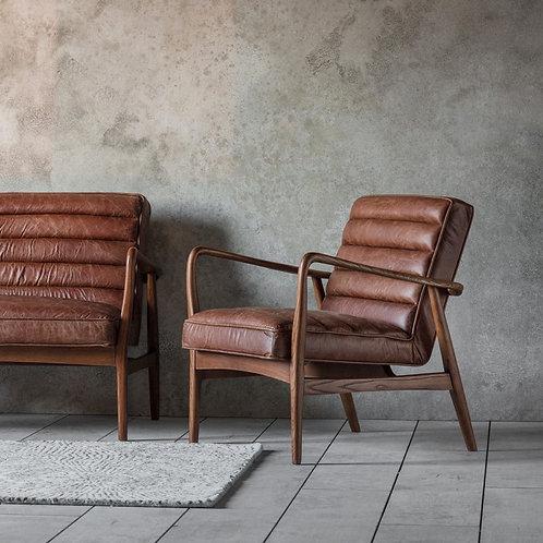 Armchair Vintage Brown Leather