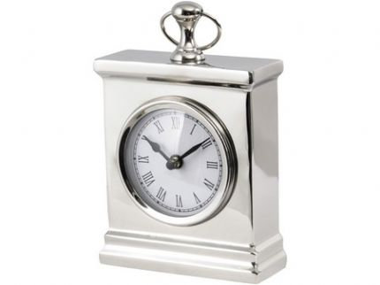 Small Nickel Mantel Clock