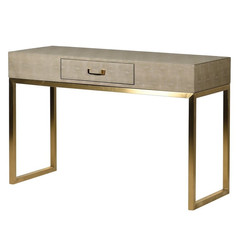 Faux Shagreen Console Table