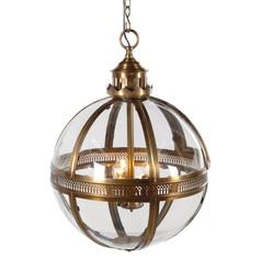 Bronze Glass Ball Light
