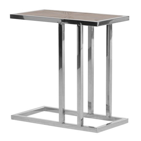 Steel Occasional Table with Parquet Top