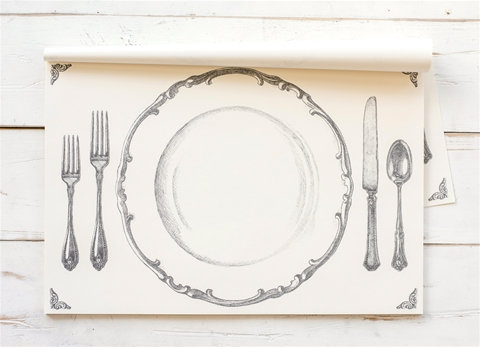 Grey Setting Paper Placemats