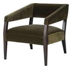 Olive Velvet Chair