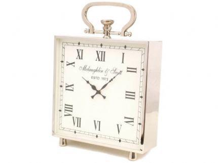 Extra Large Nickel Mantel Clock