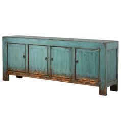 Turquoise 4 Door Sideboard
