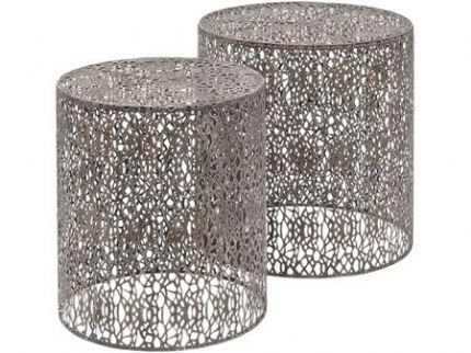 Metal Fret-Work Style Table Nesting Tables