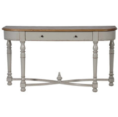 Hall Table with Distressed Top