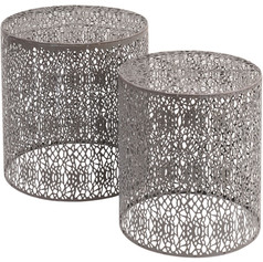 Set Of Two Grey Nesting Side Tables