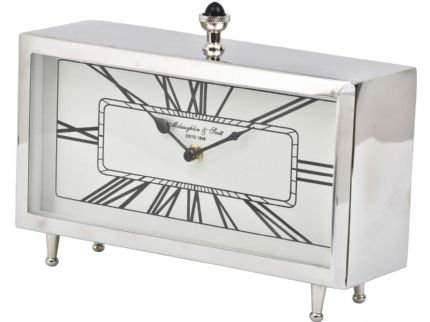 Nickel Rectangular Table Clock
