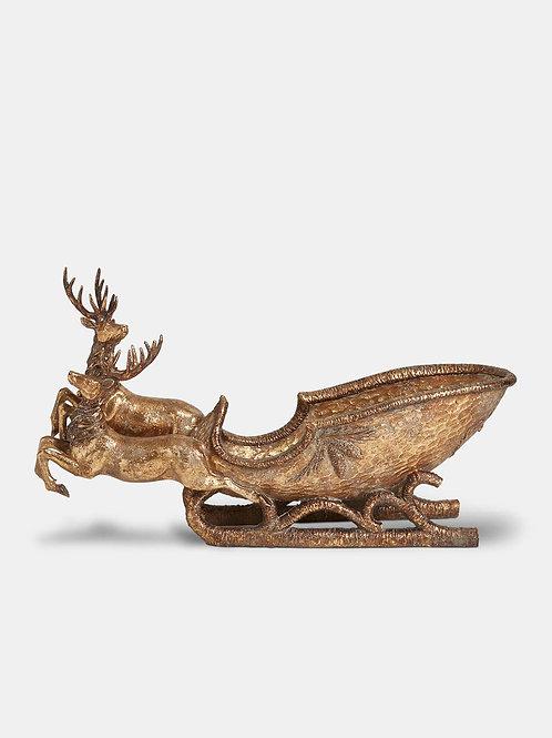 Gold 34cm Decorative Sleigh