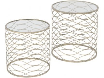Set of Metal Wave Nesting Tables