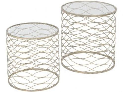 Set of Metal Wave Nesting Tables