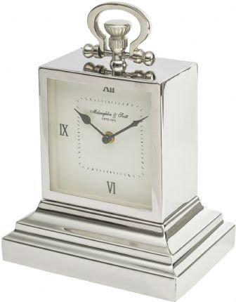 Small Aluminium Rectangular Clock with Roman Numerals
