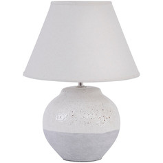 Grey Porcelain Table Lamp and Shade