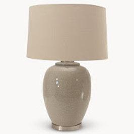 Ceramic Table Lamp with Natural Shade