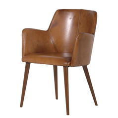 Italian Leather Office Chair with Arms