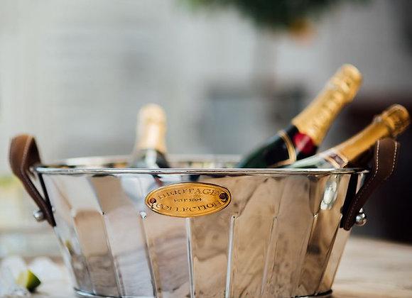 Leather Handled Champagne Bath