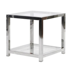 Steel Cube End Table