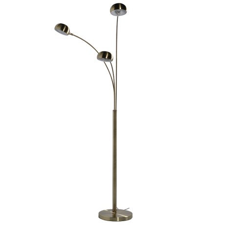 3 Arm Brushed Brass Floor Lamp