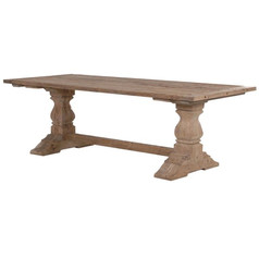 Reclaimed Parquet Dining Table
