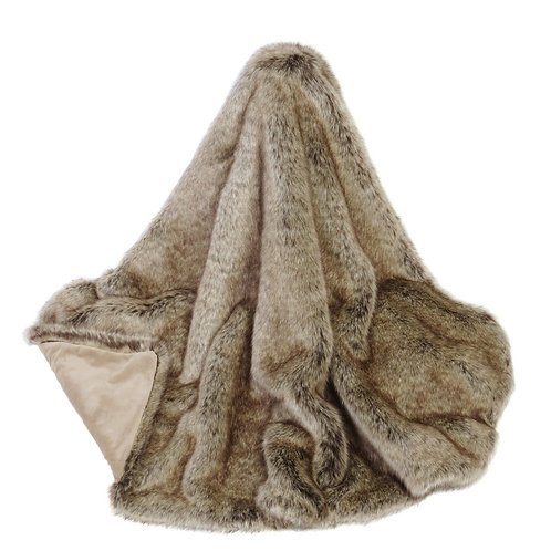 Faux Fur Comforter - Truffle
