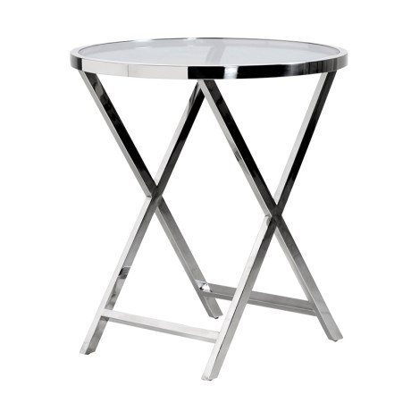 Steel Round End Table