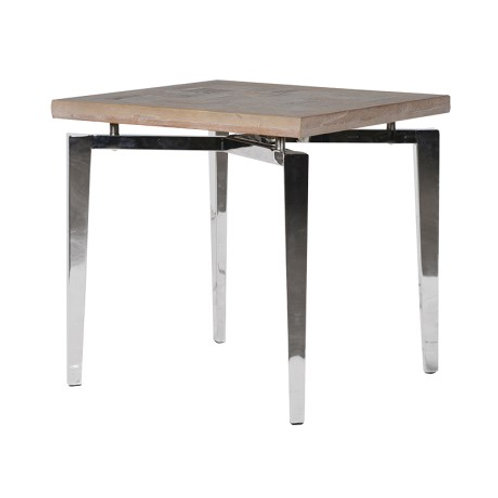 Elm and Steel Occasional Table