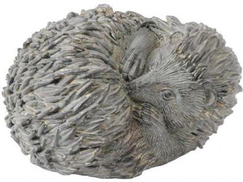 Verdigris Curled Hedgehog Sculpture