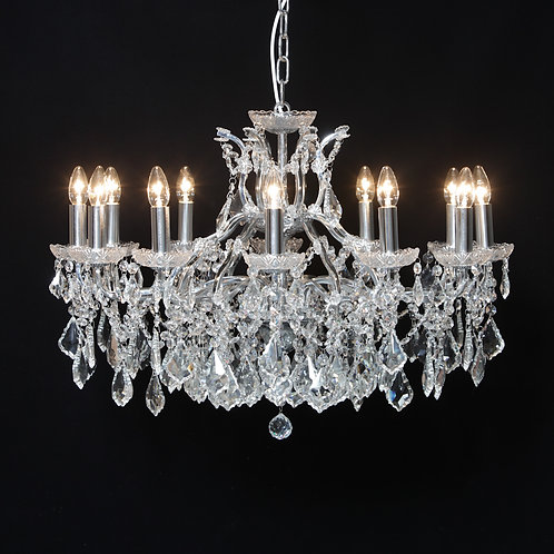 12 Arm Shallow Chandelier in Chrome