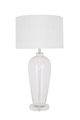 This Table Lamp Is A Simple, Understated And Elegant Blown Glass Lamp With  A Milky Cream Shade. It Finishes Any Interior Story Off With Panache.