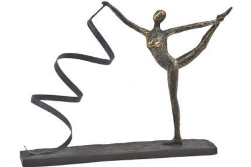 Antique Bronze Wavy Ribbon Dancer Sculpture