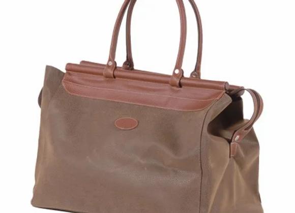Brown Bar Top Weekend Bag