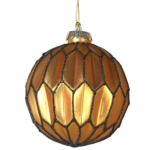 Honeycomb Gold Bauble