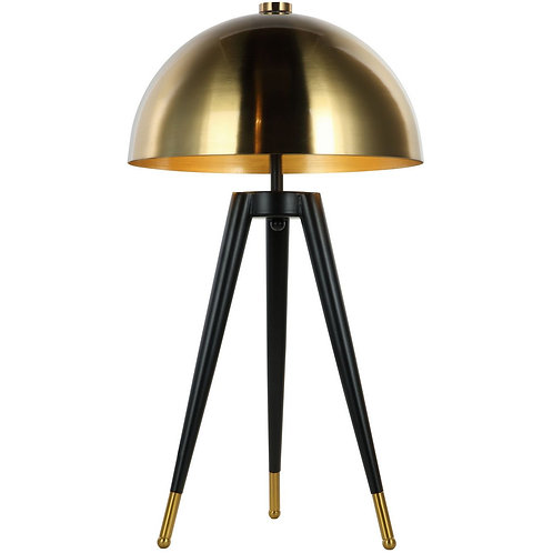 Tripod Table Lamp with Brass Shade