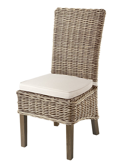Grey Wash Rattan High back