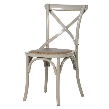 Pair of Painted X-Back Dining Chairs