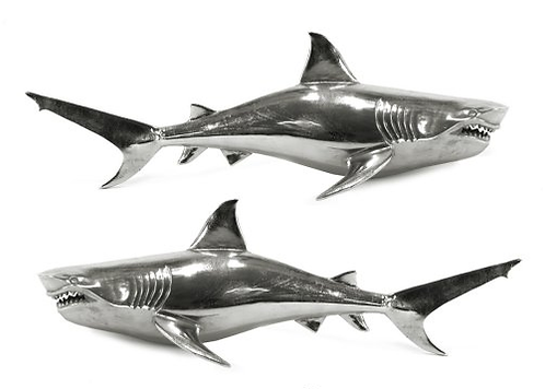 Pair of Wall Hanging Sharks