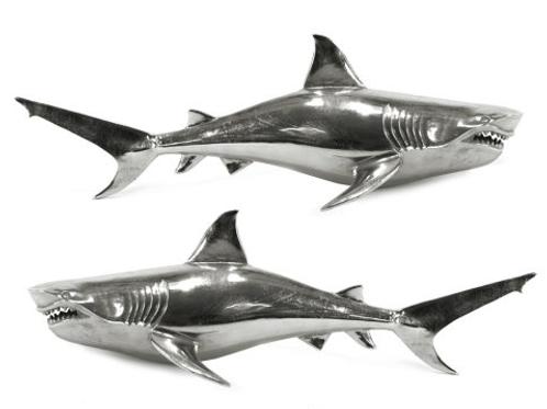 Pair of Wall Hanging Sharks