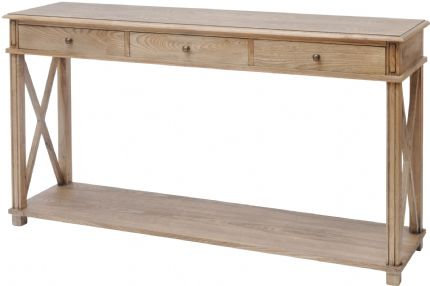 Natural Ash 3 Drawer Console
