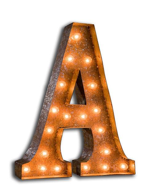 Letter lights A - J