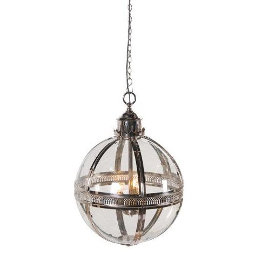 Silver Glass Ball Light