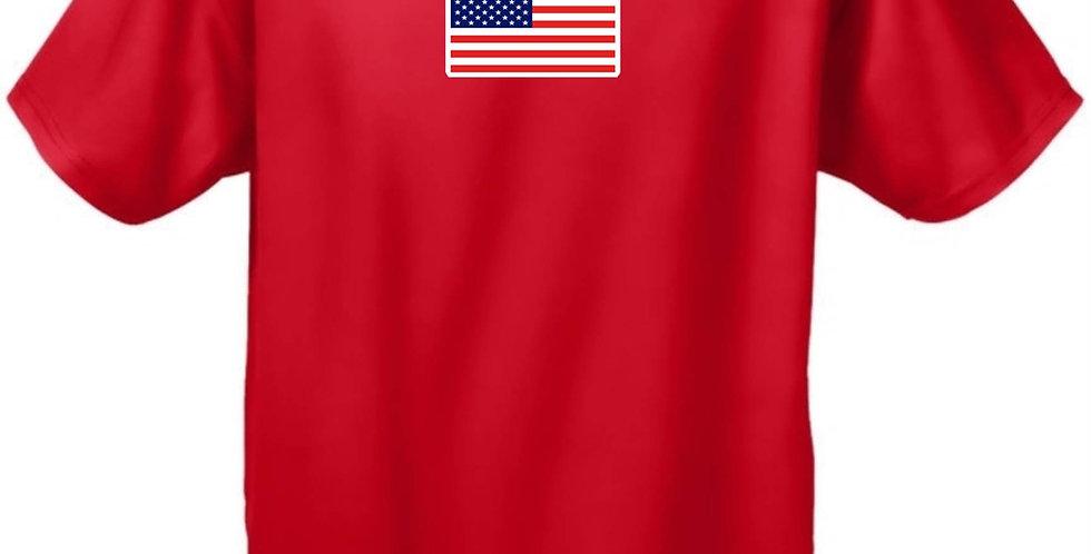 USA Flag T Shirt Men's Original American Short Sleeve Tee