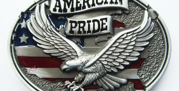 America Pride Eagle Flag Belt Buckle Factory Direct Fast Delivery Free Shipping