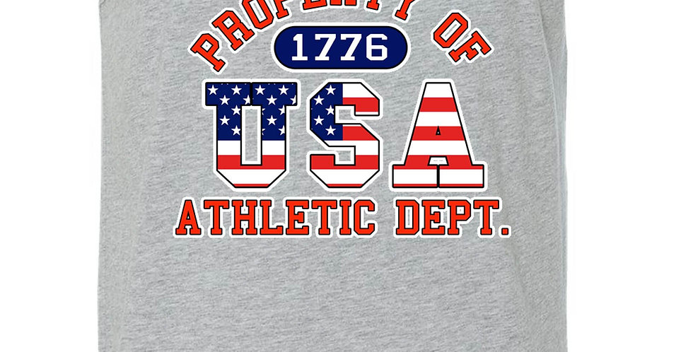 USA Flag Tank Top Men's Shirt Property of Athletic Dept.
