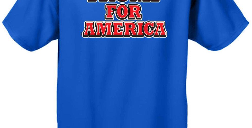 Men's/Unisex T Shirt Trump for America Short Sleeve Tee