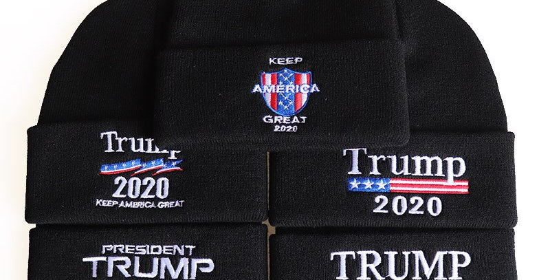 Trump Beanies Keep America Great Embroidery Knitted Winter Hat Men Women