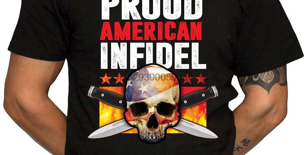 Proud American Infidel T Shirt 2nd Amendment 100% Cotton