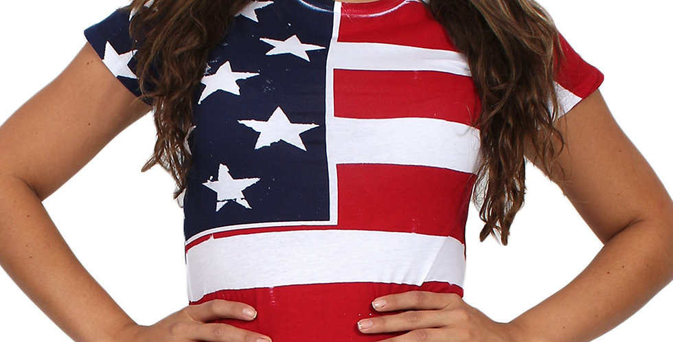 USA Flag T Shirt Screen Print