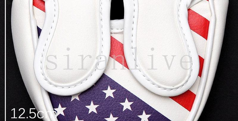 Golf Mallet Putter Cover for Center-Shaft Putter USA Flag Magnetic Closure
